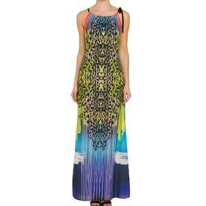 Hale Bob MultiColor Animal Print Maxi Dress